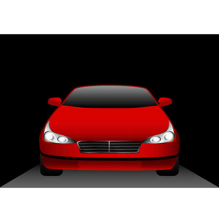 The beautiful car on a black background Stock Vector - 5915421