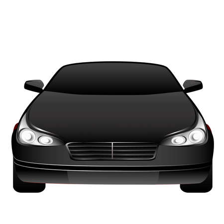 The beautiful car on a white background Stock Vector - 5915420