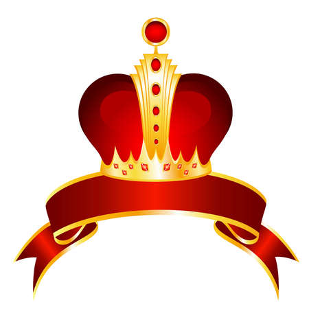 beautiful gold crown on a bright background for the design Vector