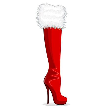 entice: beautiful female boots on a high heel on background for a design