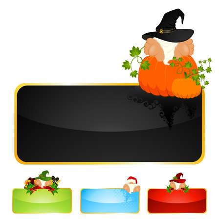 Set of beautiful christmas background on a white background for the design of winter holidays Vector