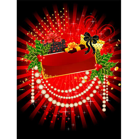 beautiful christmas background for the design of winter holidays Vector