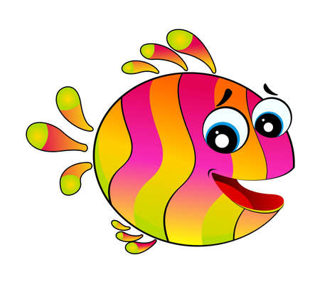 little colorful tropical fish photo