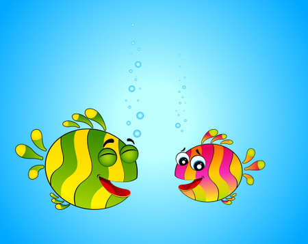 colorful tropical fish in love for the day of Valentine photo