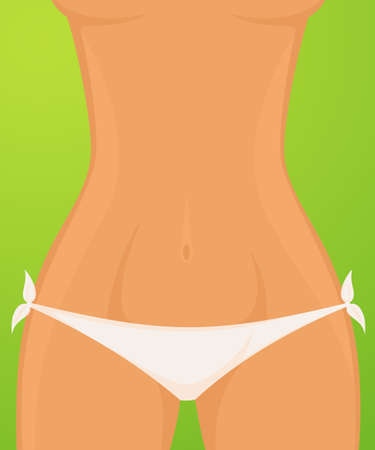 Sexy womanish thighs are in Bikini photo