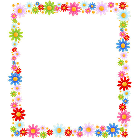 flower frame:  background with beautiful camomil