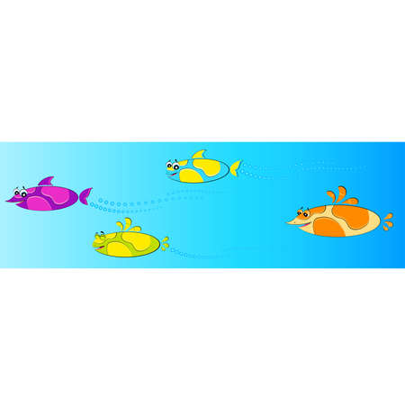 Set of little colorful tropical fish Stock Vector - 6602072