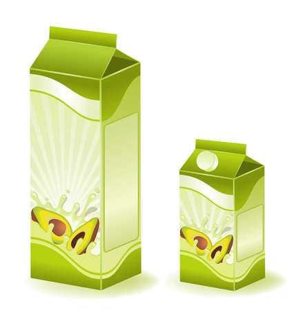 dairying: design of packing milky products with fruit