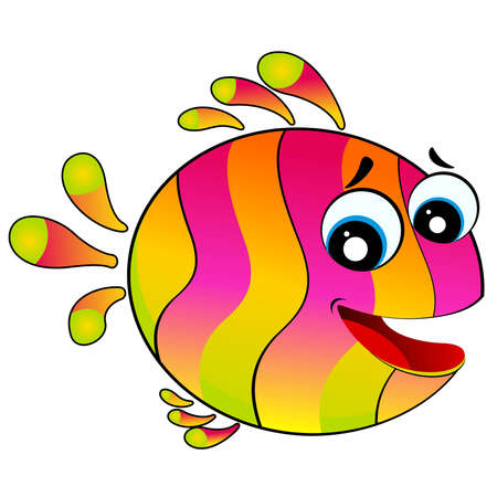 little colorful tropical fish Stock Vector - 6665978