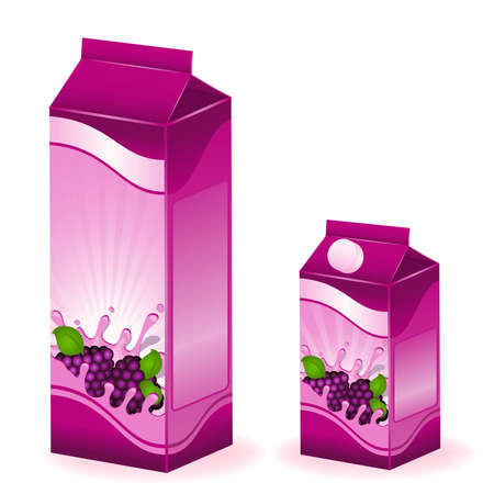 design of packing milky products with fruit Stock Vector - 6837125
