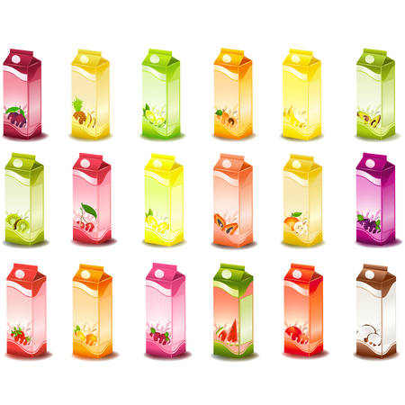 whortleberry: design of packing milky products with fruit Illustration