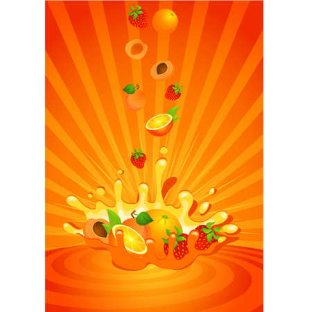 nonalcoholic: Tasty fruit in yoghurt