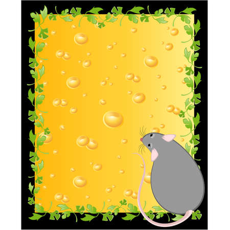 devanear: mice against from yellow cheese full of holes
