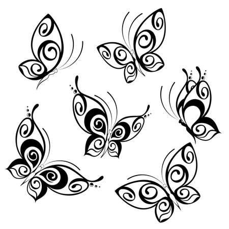Butterfly abstracta  Ilustración de vector