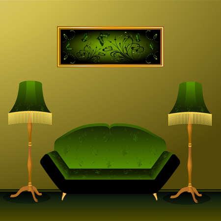 premise: Beautiful classical interior in 3d for design