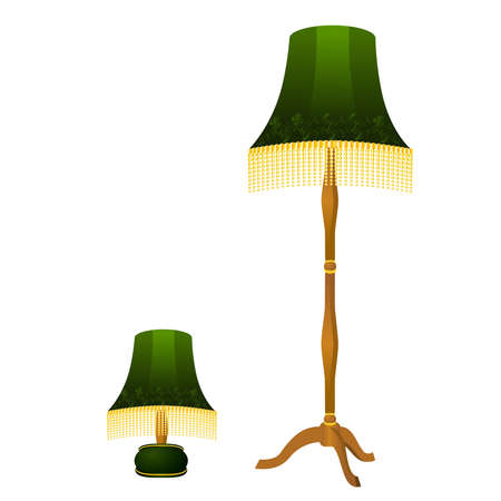 Beautiful classical lamp on a white background