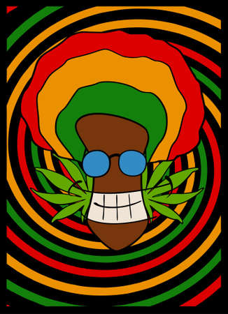 rastafari: portrait of rasta man