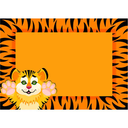 sign 2010 years is a beautiful little tiger Stock Vector - 7260512