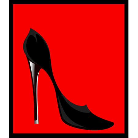 womanish sexy shoes Vector
