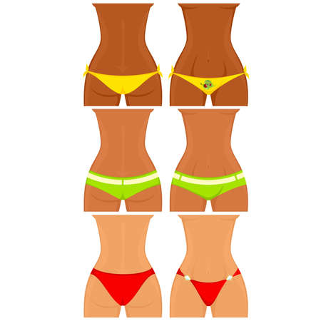 womanish thighs are in Bikini Vector