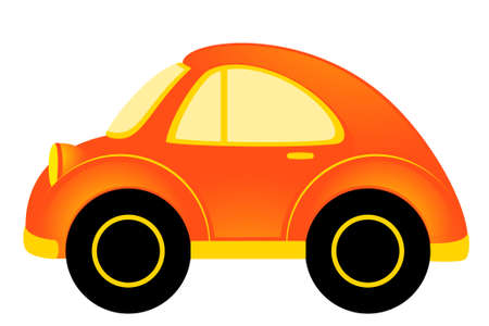 toy shop: vector cartoon car on white background Stock Photo
