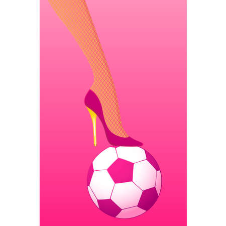 soccer shoe: High heel pink soccer against pink background
