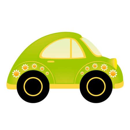 carritos de juguete: coche de dibujos animados  Vectores
