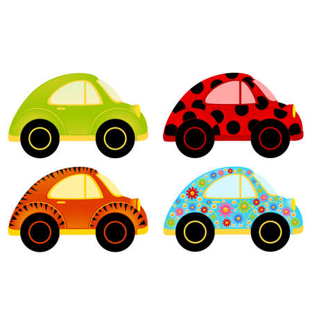 multi race: cartoon car