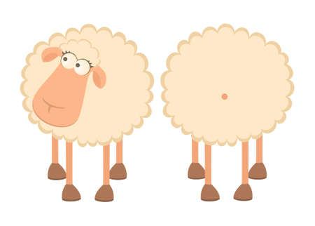 illustration of two cartoon sheep Stock Illustration - 7414740