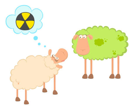 cartoon sick sheeps Stock Photo - 7466786