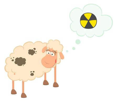 cartoon sick sheep Stock Photo - 7466783