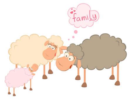 family of cartoon sheep Stock Photo - 7466787