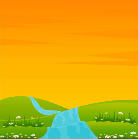 Country Landscape with river Stock Photo - 7522489