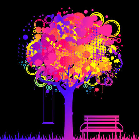 abstract colorful tree. Nature decoration. Stock Photo - 7520682