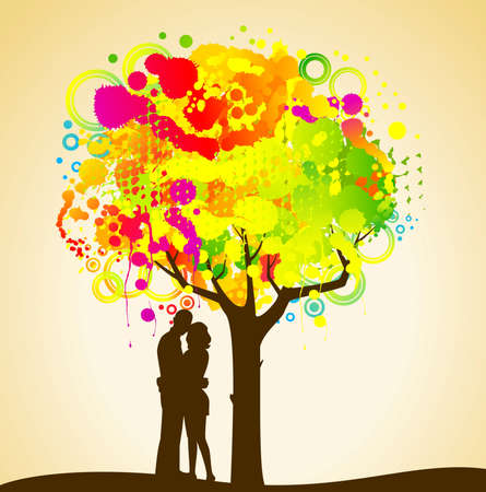 abstract colorful tree. Nature decoration. Stock Photo - 7520677