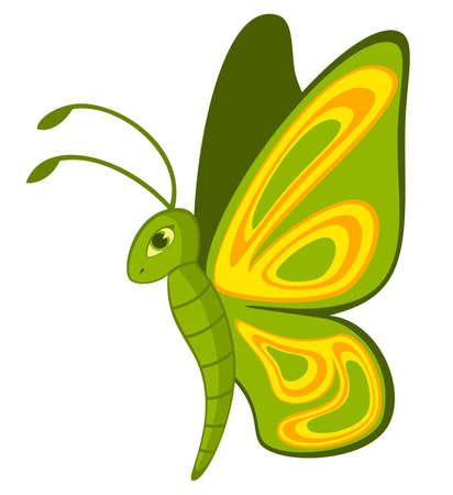 Divertida caricatura mariposa tropical. Foto de archivo - 7555511
