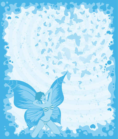 pretty girl with butterfly wings Stock Photo - 7555529