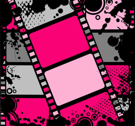 the entertainment industry: Blank film colorful strip Stock Photo
