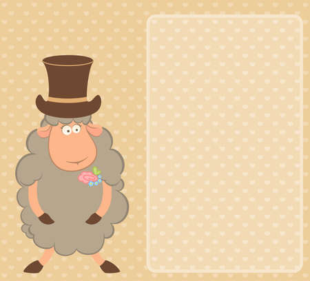 Cartoon sheep fiance Stock Photo - 7881083