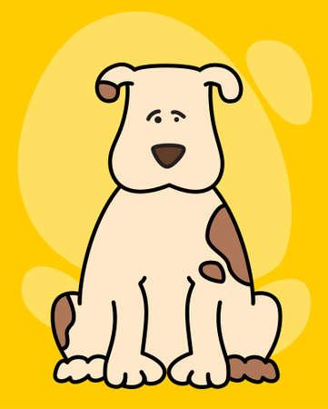 piebald:  illustration of cartoon dog