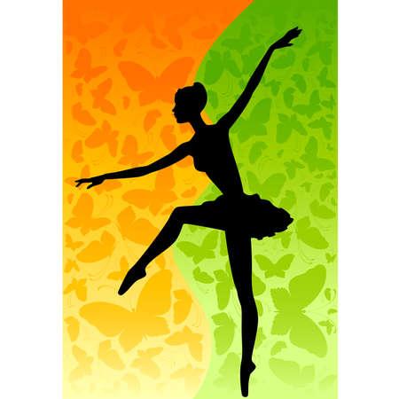 ballerina danza classica: ballerino Vettoriali