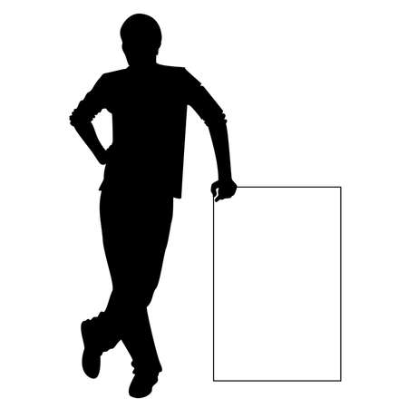 young black man: silhouette of man