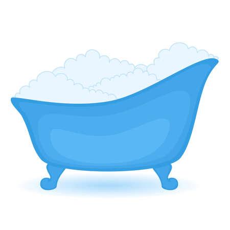 ba�o blanco: ba�o azul en aislados sobre fondo blanco
