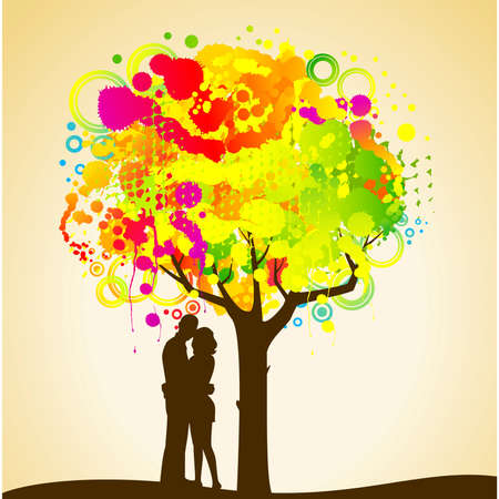silhouette of lovers