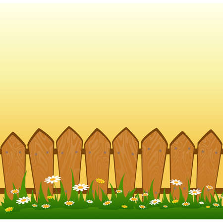 Country Fence Vector