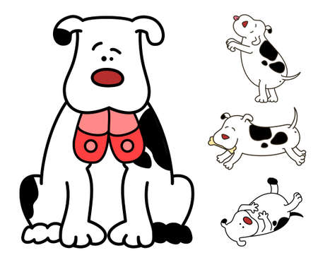 pampered: Set of cartoon dogs Stock Photo