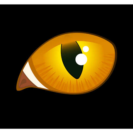 black cat eyes in darkness Vecteurs
