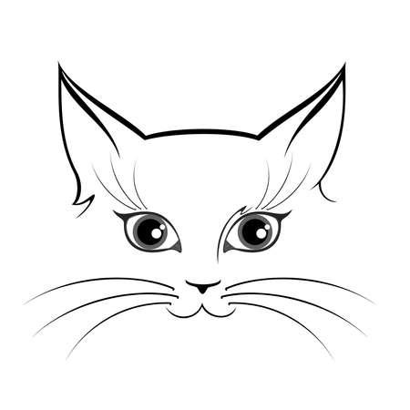 brujas caricatura: ojos de gato