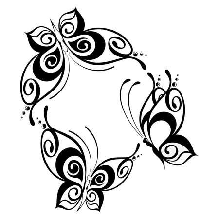 graphics: prachtige vlinder voor een ontwerp