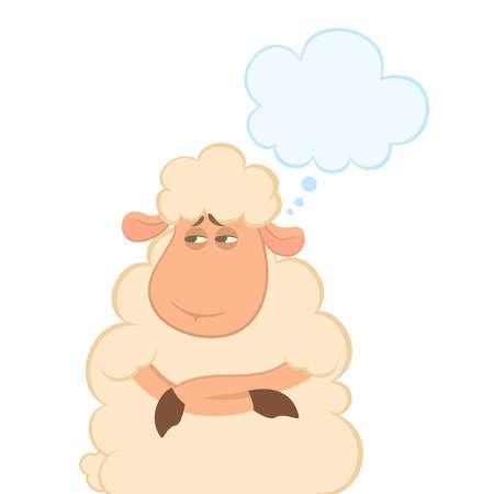 mouton cartoon: illustration de moutons de la bande dessin�e  Illustration